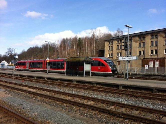 Bahnhof Aue - Zug nach Chemnitz