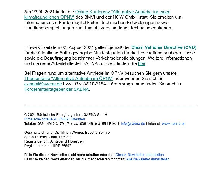 Newsletter SAENA